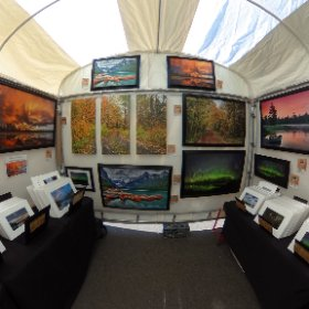 At the Grand Marais art fair this week. All set up with Great weather. #theta360