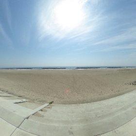 荒浜の防潮堤 #theta360