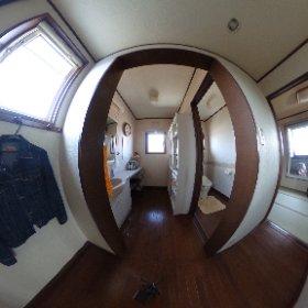 二階廊下、洗面~トイレ #theta360
