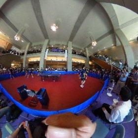 明治大学卓球部、北京体育卓球部、北京体育大学卓球部らによる交流戦のようす #theta360
