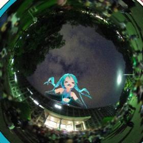 ミクさんに見守られながらのラスト集合写真 #北大祭 #北大ダンパ #miku360 #theta360