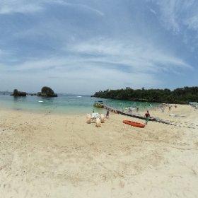 沖縄県うるま市、海中道路を渡った一番先端にある伊計島の伊計ビーチにてRICOH THETAによる360度全天球撮影。 #沖縄旅行 #theta360