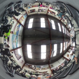 Upper training area #theta360