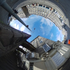 North West Circus Place at the foot of the steps from India Street #theta360