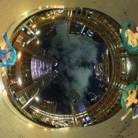 #深夜のねんどろ撮影60分一本勝負 お題[休日]  「ますたーはおしごとだけど、とちょうかんこうにきたよー♪」 #miku360  #theta360