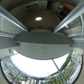 長野市のマンション、MAC上松コート、ベランダからの眺望