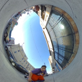 Lil Sean hover boarding outside of PhilaMOCA #theta360