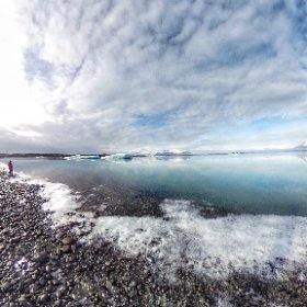 The beauty of #jokulsarlon #iceland #theta360
