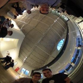 Sam Carr, former Digital Media student and now Industrial Designer enjoying the #Adobe #CreativeJam  #theta360