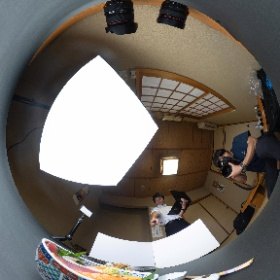奈良県大和高田市、寿司の有甚様、海鮮丼の撮影風景 #theta360
