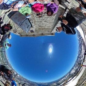 Foto di gruppo davanti alla chiesa Monte Thabor - Valle Stretta - Francia