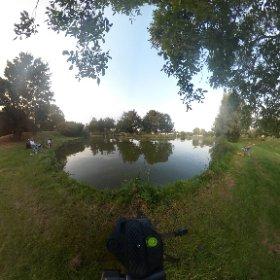 Vissen op camping de Vergarde #theta360