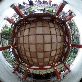 娘の七五三の時に久伊豆神社で撮影した写真です、11月はどこの神社も人が一杯ですね。 #theta360