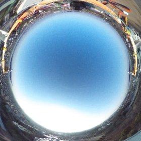 夕方に熊本高専グラウンドから校舎方向をインターバル撮影で空撮。 #theta360