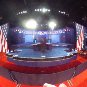 A 360 view of the debate stage at UNLV (It looks a lot like the stage for the 1st debate):