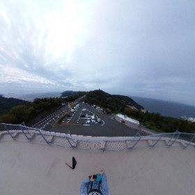 360度カメラで佐田岬半島を撮影! 右に瀬戸内海、左に宇和海が一度に見れます!