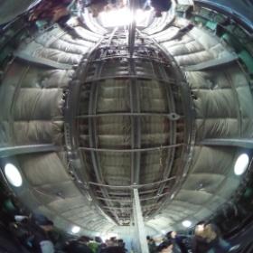 C-1輸送機の機内!C-130Hよりもスッキリしてて広い印象だ。 #入間航空祭 #RICOH #THETA  #theta360