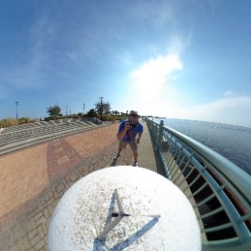 Taking picture of invisible things under a beautiful sky. As you do.  #theta360