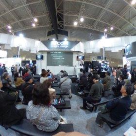 """#CP+ では、14:30からRICOHブースで、Engagdet日本版でお馴染みの、高松 """"わっき"""" 勝範さん( @d_wacky )によるトークイベント「時空間のアーカイブ!RICOH THETA Sで撮る日常」をやってるよぉー! #theta360"""