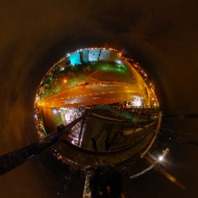 on top of the World at the Old Dublin Road in Galway overlooking GMIT #firefly3d #theta360