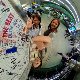 Shinjuku Station, despidiéndonos de la Mido por un tiempito!!! #theta360