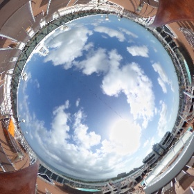 Looking out across the upper decks of the MSC Divina while docked in Nassau! #theta360