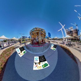 Liz Quay Carousel (merry-go-round) authentic hand crafted ride for children SM hub https://linkfox.io/o1NKX BEST HASHTAGS  #MerryCarouselLizQuay   #ElizabethQuay  #PerthCity  #VisitPerthWA   #PerthAdventure   #WaTourism  #Butterfly3d #theta360
