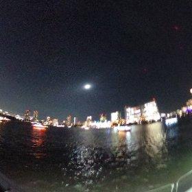 東京湾屋形船忘年会へ! #theta360