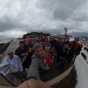 На вершине Роза Пик (2320 м) еще лежит снег и сильно мёрзнут руки. Мы здесь с участниками #interrosacamp будем обсуждать проблемы внутреннего туризма #Сочи #Розахутор