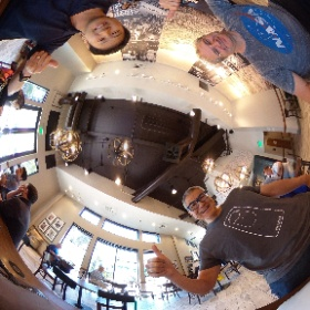 Meeting with THETA V Plug-in developer Ichi Hirota in Silicon Valley. Saw a demo of THETA V taking dual-fisheye bracketing images and post-production stitching. #theta360