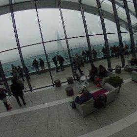 Sky Garden Walkie Talkie building London UK  #theta360 #theta360uk