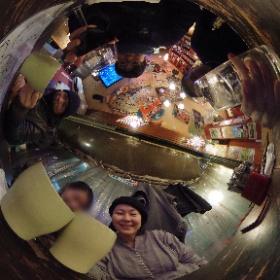 京成立石グルメハシゴツアー5軒目! 本日の〆はイタリアンバーABURIで乾杯🥂 #theta360