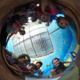 I Believe we can Fly! project. Kite in progress. NGO Via Del Campo, Sihanoukville - Cambodia #theta360