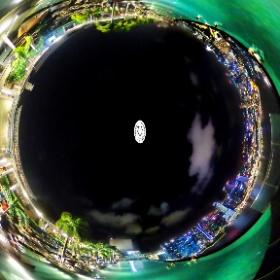 Infinity Pool Marina Bay Sands (Night) - www.ansonchew.com #ansonchew #anson360 #Singapore #InfinityPool #MarinaBaySands #mbs #theta360