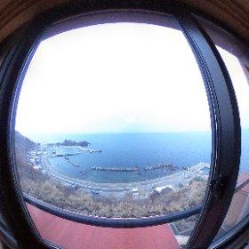 ホテル竜飛では、津軽海峡側の眺望。   ボーッとする時間を過ごしました。