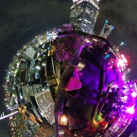 バンコクのルーフトップバーゼンスからの夜景。#LoveThailand #AmazingThailand #Thailand #zense  #theta360