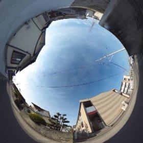 松山市の賃貸アパート、グランドカメリアⅦの南側