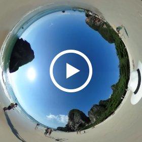 Krabi Thailand, Railay Beach, Ocean #theta360