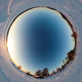 Sonnenuntergang mit der Ricoh Theta S in Schwedisch Lappland mit www.FlorianGerla.ch #theta360 #theta360de