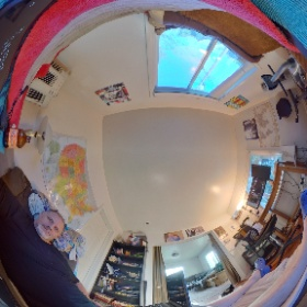 Relaxing at home. #theta360