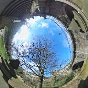 ½ way up the steps to St Bernard's Bridge at the Dene, Stockbridge #theta360