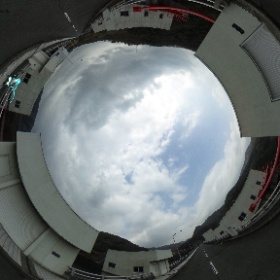 弥栄ダムの天端でミクシータ。 #miku360 #theta360