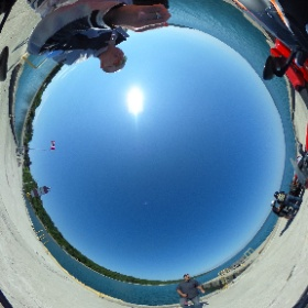 On the dock of Big Bay https://goo.gl/maps/eoWBzaD5FFN2 #theta360
