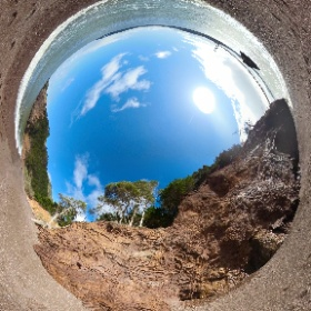 Ooh! I figured out a nice technical fix for the fact that spherical camera images often capture me in the frame: Photoshop clone tool to remove me from the image (replaced w/ beach gravel in this case). Can you tell?