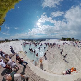 Pamukkale, check out this beautiful view #theta360