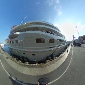 boat called Here Comes the Sun I  Poole Harbour 2020 #theta360 #theta360uk