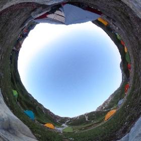 立山雄山登山、暮れていく雷鳥沢キャンプ場!  #立山 #雷鳥沢キャンプ場 #夕暮れ #theta360