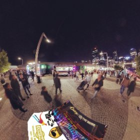 Cosy at the Quay winter concept Street Food Vans, enclosed bridge, heaters and live music for family outing  page https://linkfox.io/IiJ46 BEST HASHTAGS #CosyOnTheQuay  #ElizabethQuay  #PerthCity  #VisitPerthWA   #Firefly3d #theta360
