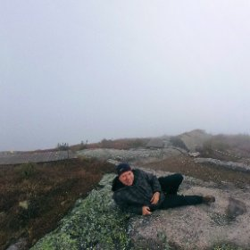 Happy to have reached the mountain summit in the fog at park des Grands-Jardins in Charlevoix, Quebec #theta360 #theta360fr
