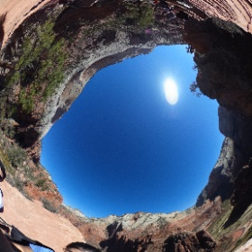 Almost the top of Angel's Landing at Zion National Park.  #theta360